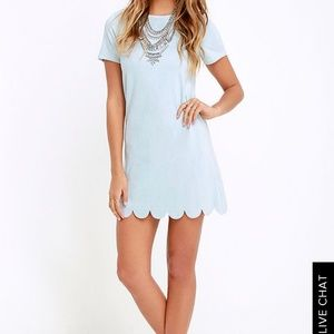 Lulu's Well Suede Shift Dress